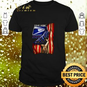 Pretty 4th of July independence day your name US Postal Service shirt