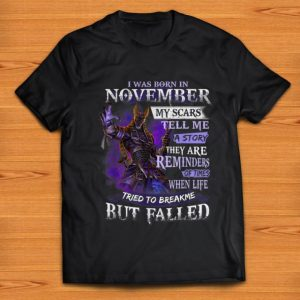 Pretty Anubis I Was Born In November Life Tried To Break Me But Falled shirt