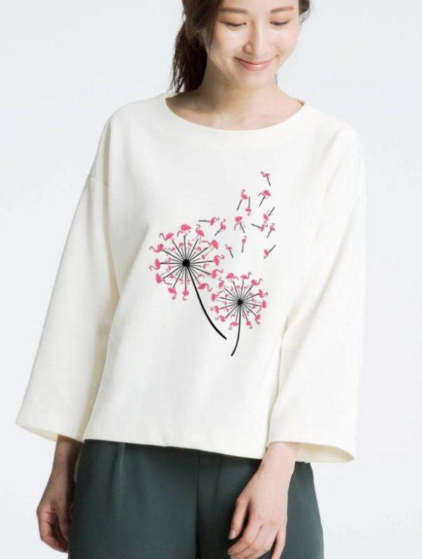 Pretty Flamingo Dandelion Flower shirt