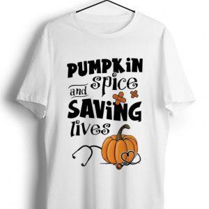Pretty Pumpkin Spice And Saving Lives Halloween Doctor Nurse shirt