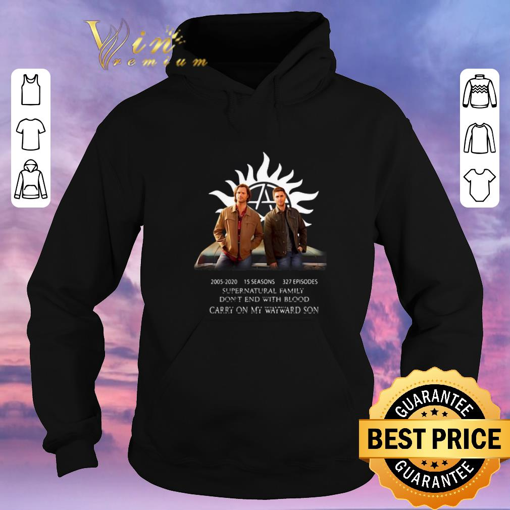 Pretty Supernatural Family Don t End With Blood Carry On My Wayward Son shirt sweater 4 - Pretty Supernatural Family Don't End With Blood Carry On My Wayward Son shirt sweater