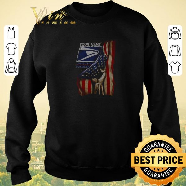 Top 4th of July independence day your name US Postal Service shirt sweater