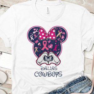 Top Dallas Cowboys Breast cancer Mickey shirt