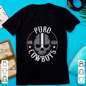 Top Dallas Cowboys Skull Puro Por Vida shirt