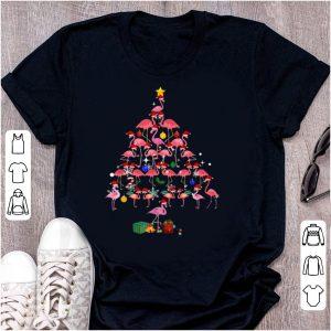 Top Flamingo Christmas Tree shirt