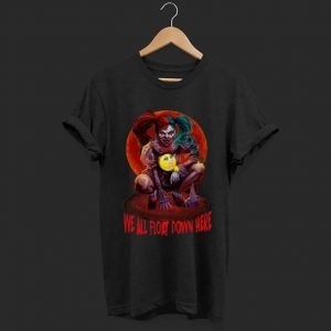 Top Harley Quinn We All Float Down Here Pennywise shirt