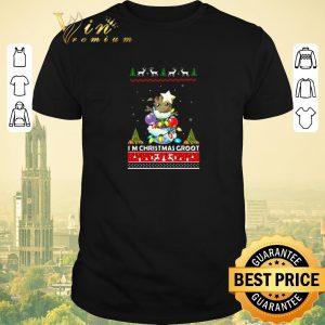 Top I'm Christmas Groot shirt sweater