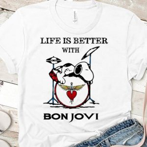 Top Life Is Better With Bon Jovi Snoopy Rock Band shirt