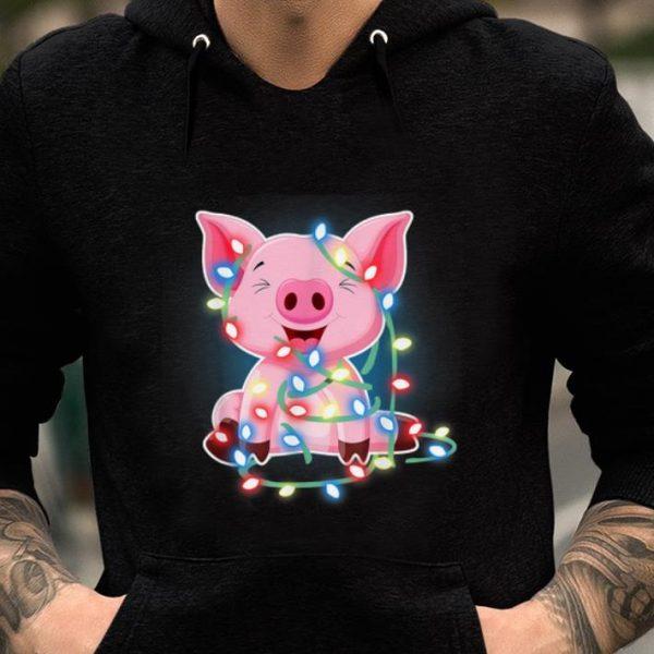 Top Pig Lights Cute Christmas Merry Xmas shirt