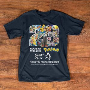 Top Pokemon 23 Years 1997-2020 Thank You For The Memories shirt
