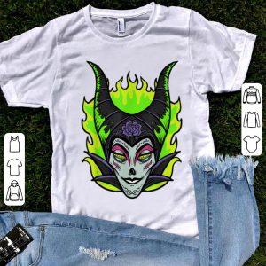 Top Sleeping Beauty Maleficent Sugar Skull Halloween shirt