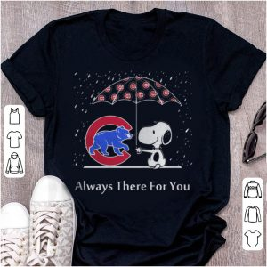 Top Snoopy And Chicago Cubs Always There For You shirt