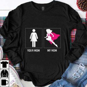 Top breast cancer awareness mom warrior survivor superhero shirt
