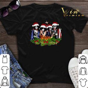 American Flag Kiss Merry Christmas shirt