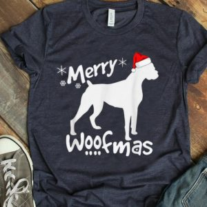 Awesome Boxer Dog Christmas - Merry Woofmas T-Shirt B07ZDSMZV7.png