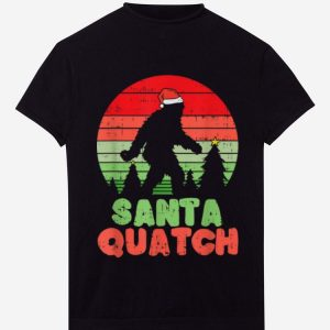Awesome Christmas Santa Quatch For Bigfoot Lovers shirt