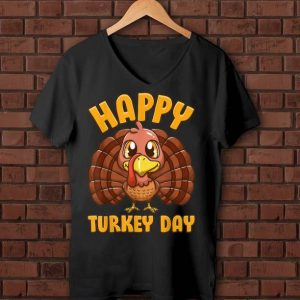 Awesome Happy Turkey Day Gobble Thanksgiving Day shirt