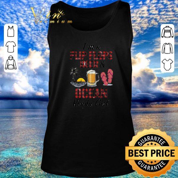 Awesome I'm a flip flops beer & ocean kinda girl shirt 2020