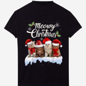 Awesome Meowy Christmas Tee Kitten Cat Kitty Xmas Cute Gift shirt