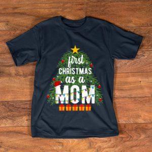 Awesome Merry Christmas Tree First Christmas As A Mom Xmas New Mom shirt