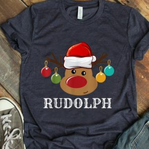 Awesome Santa Reindeer Rudolph Xmas Group Costume T-Shirt B07Z9SMGGW.png