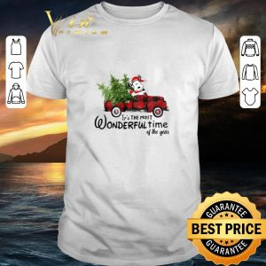 Awesome Snoopy Truck It's The Most Wonderful Time Of The Year Christmas shirt