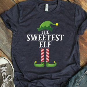 Awesome Sweetest Elf Matching Family Group Christmas Party Pajama T-Shirt B07YYR5FTY.png