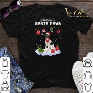 Borzoi i believe in Santa paws Christmas shirt sweater