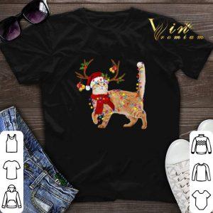Christmas Cat gorgeous reindeer shirt