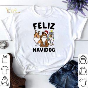 Christmas Feliz Navidog Shetland Sheepdogs shirt