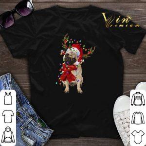 Christmas Pug Reindeer shirt