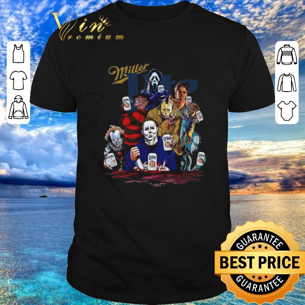 Best Horror 2020.Funny Miller Lite Horror Film Characters Shirt Sweater 2020