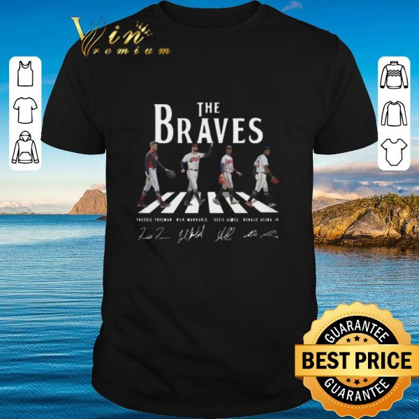 Funny Signatures Atlanta Braves The Braves Abbey Road shirt 2020
