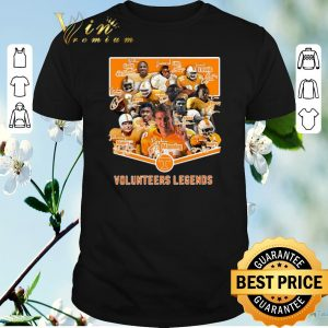 Funny Signatures Tennessee Volunteers Legends shirt