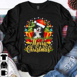 Great Merry Christmas Border Collie Mom Dad Christmas shirt
