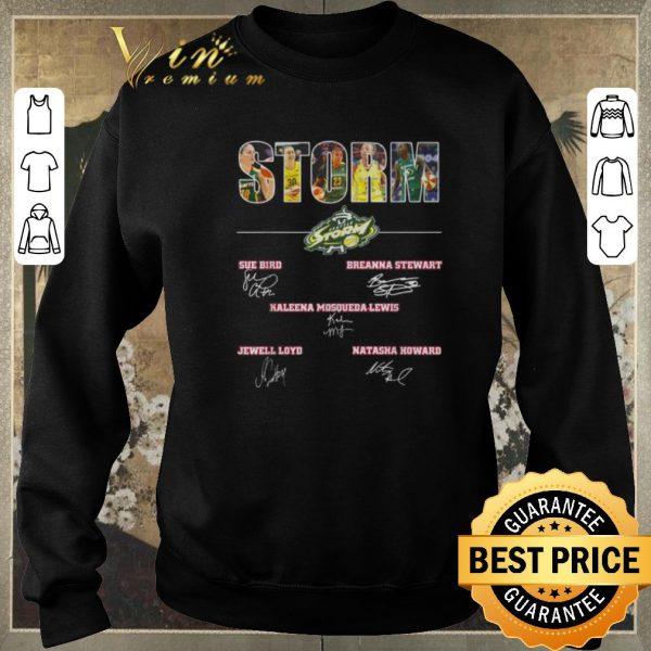 Hot Signatures Seattle Storm team players shirt