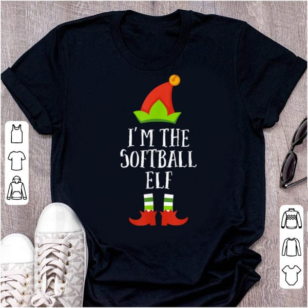 Hot Softball Elf Christmas Matching Family Group Im The Elf shirt