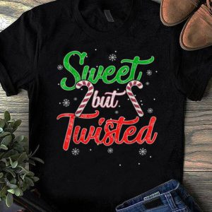 Hot Sweet but Twisted Funny Candy Cane Christmas Mens shirt