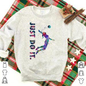 Hot Volleyball Girl Just Do It Flower shirt