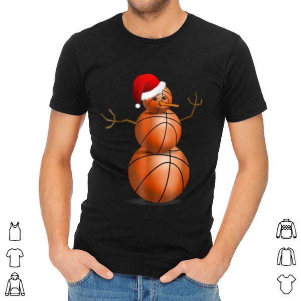 Nice Christmas Basketball – Basketball Snowman shirt