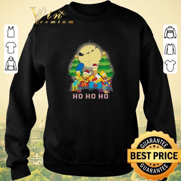 Nice Christmas The Simpsons Family ho ho ho shirt