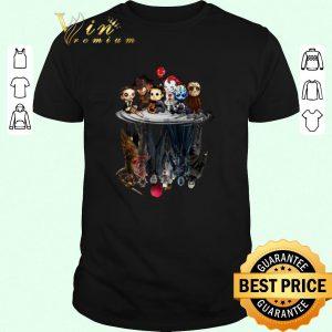 Nice Horror movie characters water mirror reflection Halloween shirt