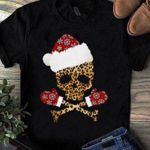Nice Leopard Santa Skull Christmas shirt