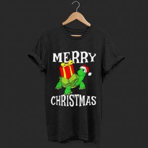 Nice Merry Christmas Turtle Santa Hat Cute XMAS Present Gift shirt