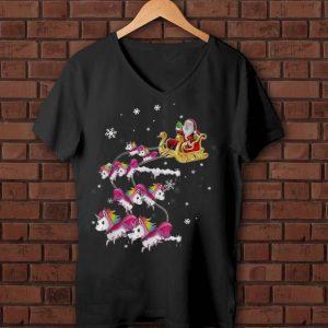 Nice Merry Xmas Unicorn Santa Christmas shirt