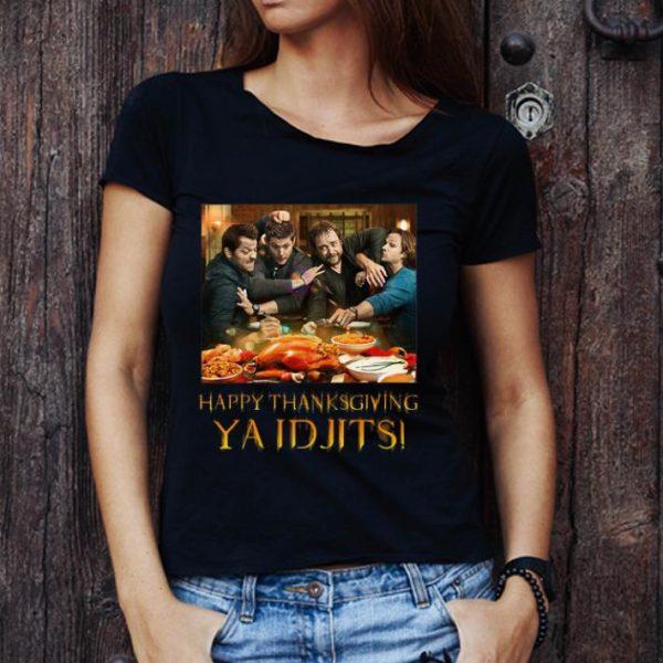 Nice Supernatural Happy Thanksgiving YA IDJITS shirt