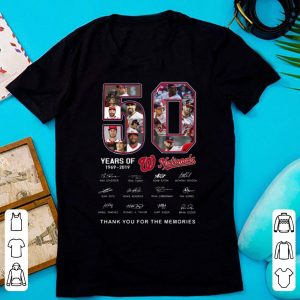 Nice Washington Nationals 50 Years Thank You For The Memories signature shirt