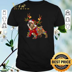 Official Bulldog santa reindeer Christmas shirt sweater