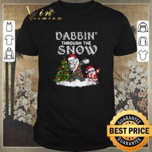 Official Dabbin Through The Snow Old English Sheepdog Christmas shirt sweater