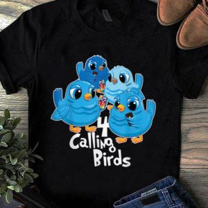 Official Four Calling Birds 12 Days Christmas Song Funny Gift shirt